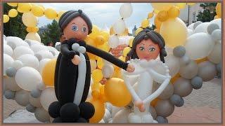 видео Фигурки жениха и невесты из шаров