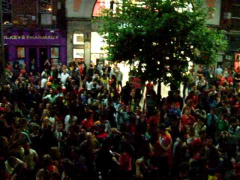 O'Connell st. Dublin is Spanish for the night. World Cup 2010