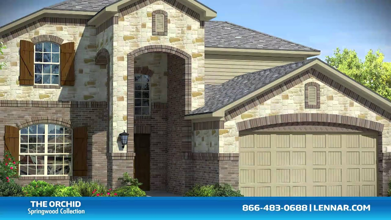 The Orchid Lennar Dallas New Home Tour Youtube