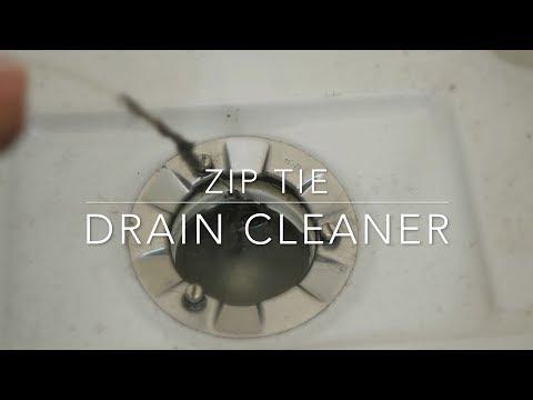 DIY zip tie drain cleaner