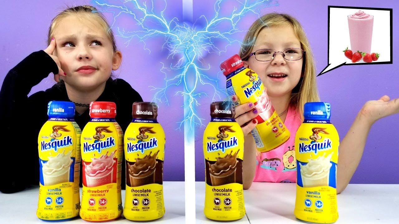 Twin Telepathy Milkshake Challenge Youtube