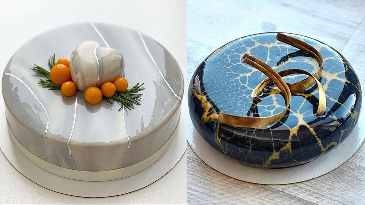 Top Yummy Chocolate Mirror Glaze Cake Recipe | Satisfying Cake Videos | #GlazeCake