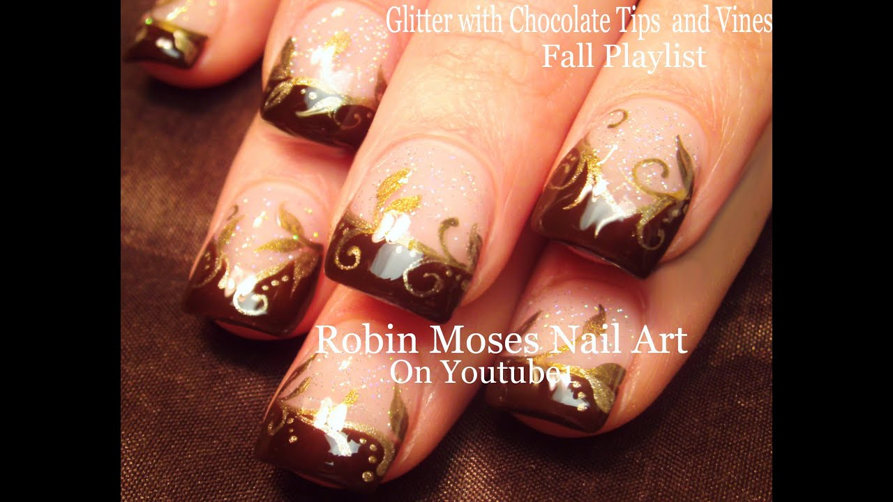 Diy Gold Fall Filigree Nails Easy Thanksgiving Nail Art Design