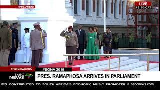 President Ramaphosa arrives for #SONA2019