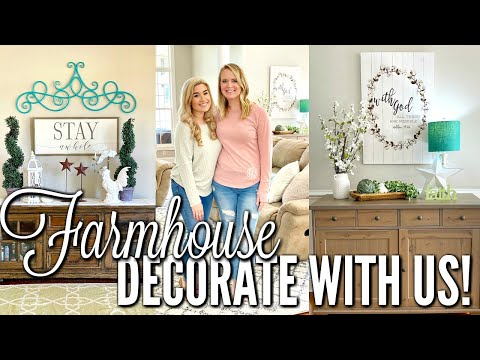 FARMHOUSE DECORATE And SHOP WITH ME | HOUSE TOUR ON A BUDGET | Love Meg