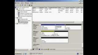 Création d'un volume simple sous Windows 2003