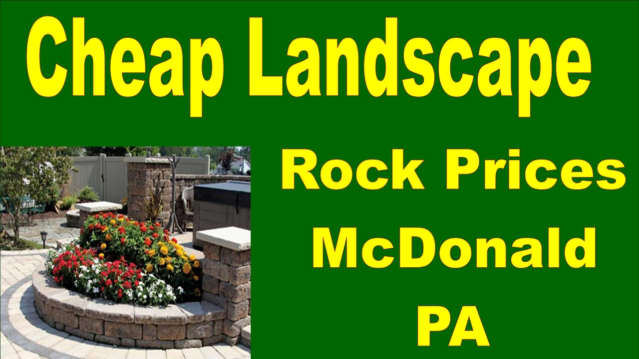 Cheap Landscaping Rock Prices McDonald PA - Cheap Landscaping Rock Prices McDonald PA - YouTube