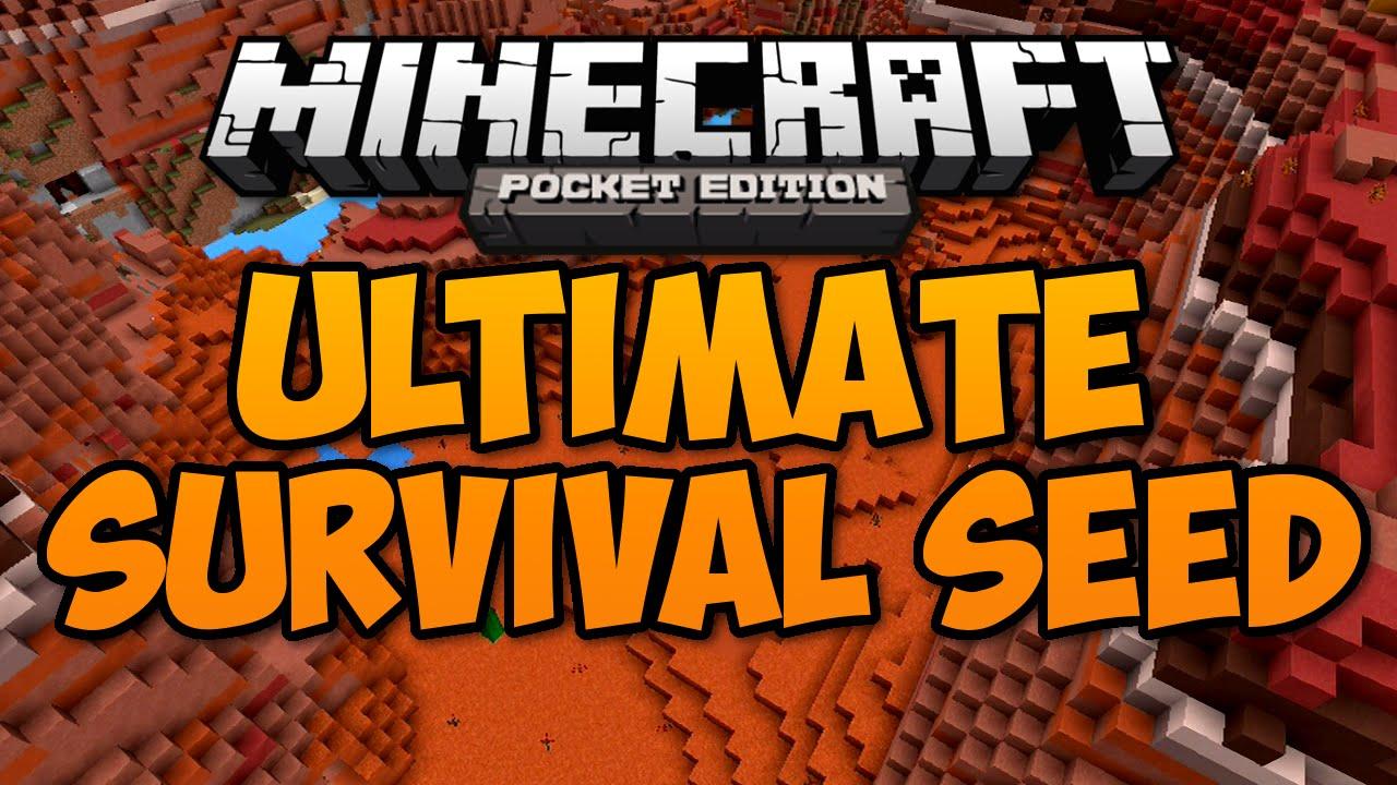 Ultimate Survival Seed    - Minecraft Pe Pocket Edition 0 12 1