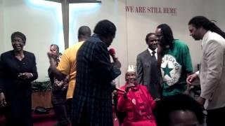 Rev Gene Martin at Rev W.M.Demmings 80th birthday