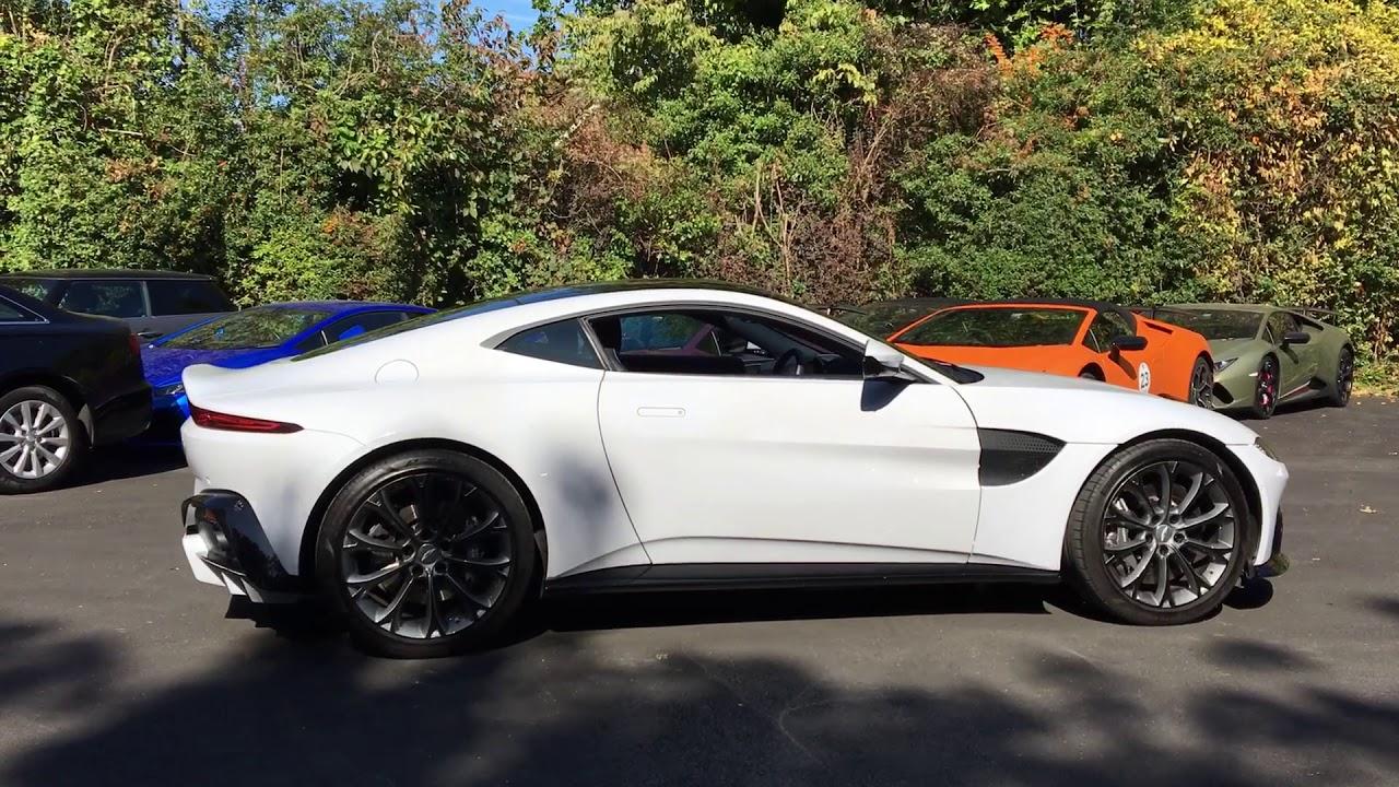 Aston Martin Vantage In White Stone Youtube