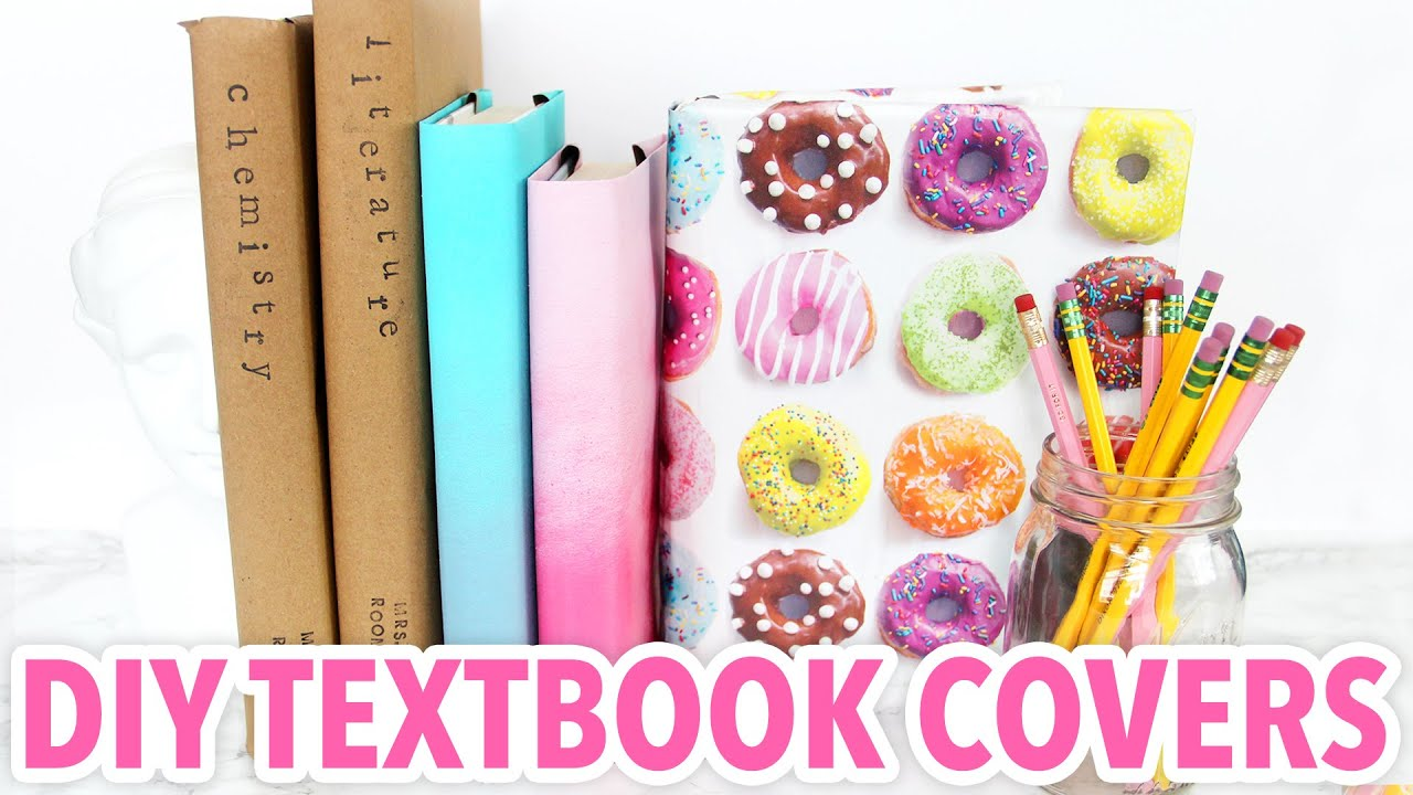Homemade Book Cover Design : Diy textbook covers back to school hgtv