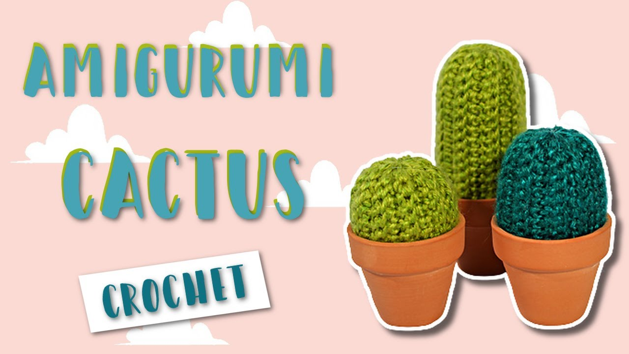 Amigurumi Cacti. Make these crochet bookends to decorate your home! | 720x1280