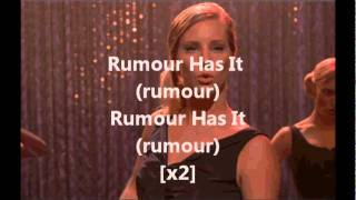 Watch Glee Cast Rumour Has It Someone Like You video
