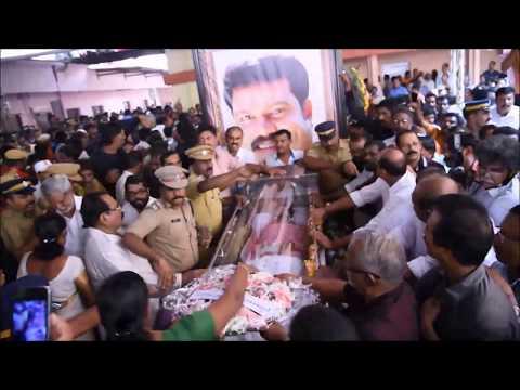 Funeral of Kalabhavan Mani( ചാലക്കുടിക്കാരൻ  ) ..at Chalakudy