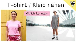 "T-Shirt / Kleid nähen mit Schnittmuster / DIY MODE ""Kemi"""