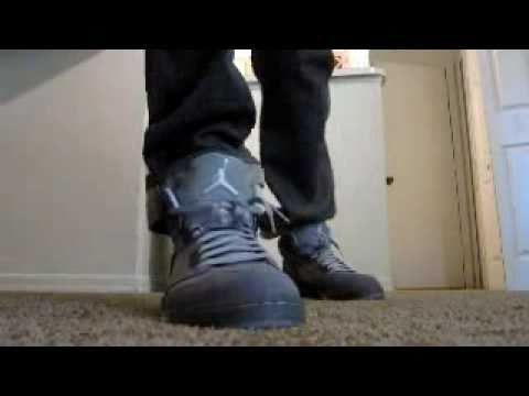huge discount 5307e 6d4b6 Air Jordan Retro 5 V Wolf Grey On Feet!!!!!!!!!!!!!! - YouTube