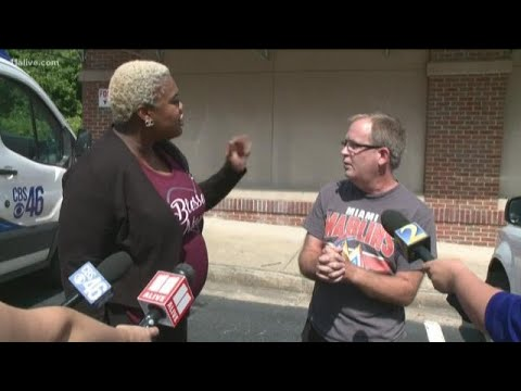 Second confrontation: Rep. Erica Thomas, Eric Sparkes meet again unexpectedly during press conferenc