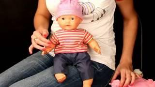 Кукла Саша с мишкой 9 функций, аксессуары, коробка