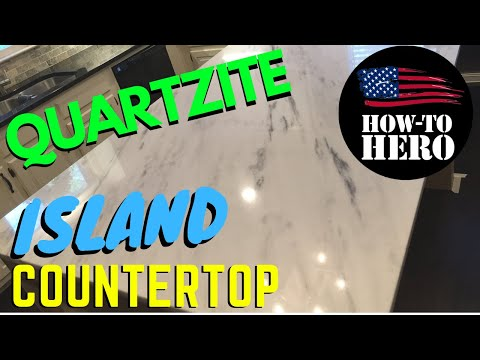 Custom Kitchen Island | QUARTZITE COUNTERTOP INSTALL: Better Than Granite
