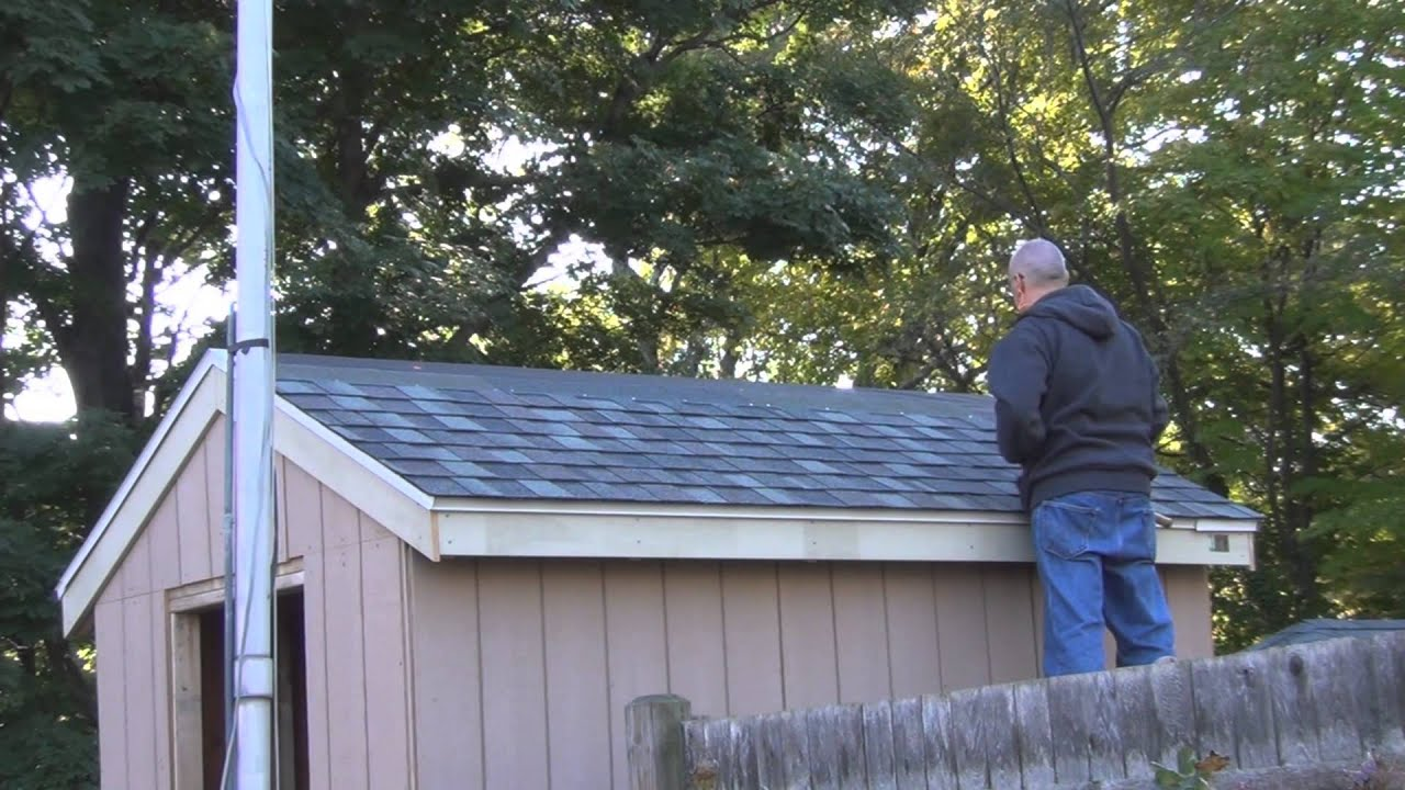 Shingling The Shed Roof Youtube