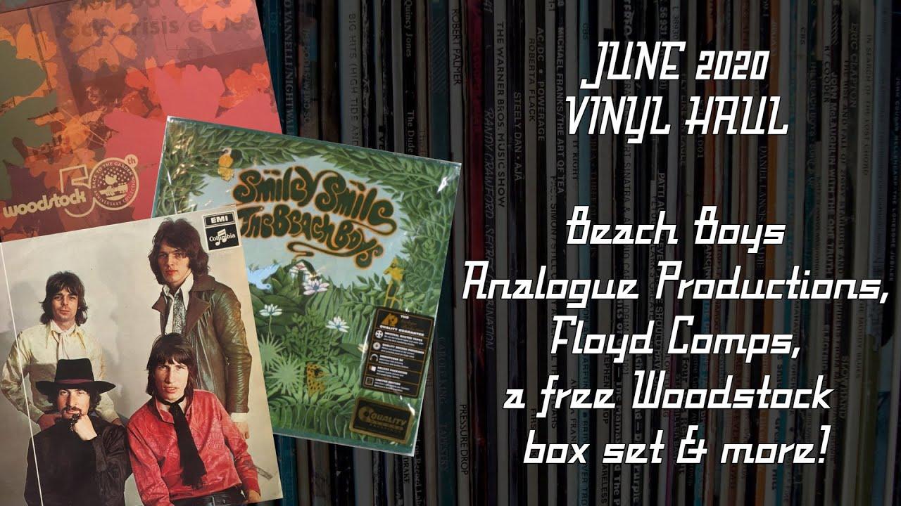 JUNE 2020 VINYL HAUL: Beach Boys Analogue Productions, Floyd Comps, a free Woodstock box set & more!