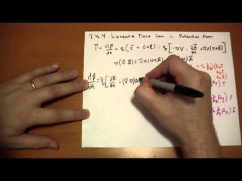 7.4.4 Lorentz Force Law in Potential Form