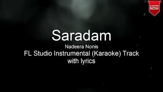 Saradam _Nadeera_Nonis _Instrumental (Karaoke) without voice Track with Lyrics