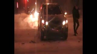 ДТП 1 января 2016, Челябинск/ Car accident 1 of January 2016 Russia, Chelyabinsk