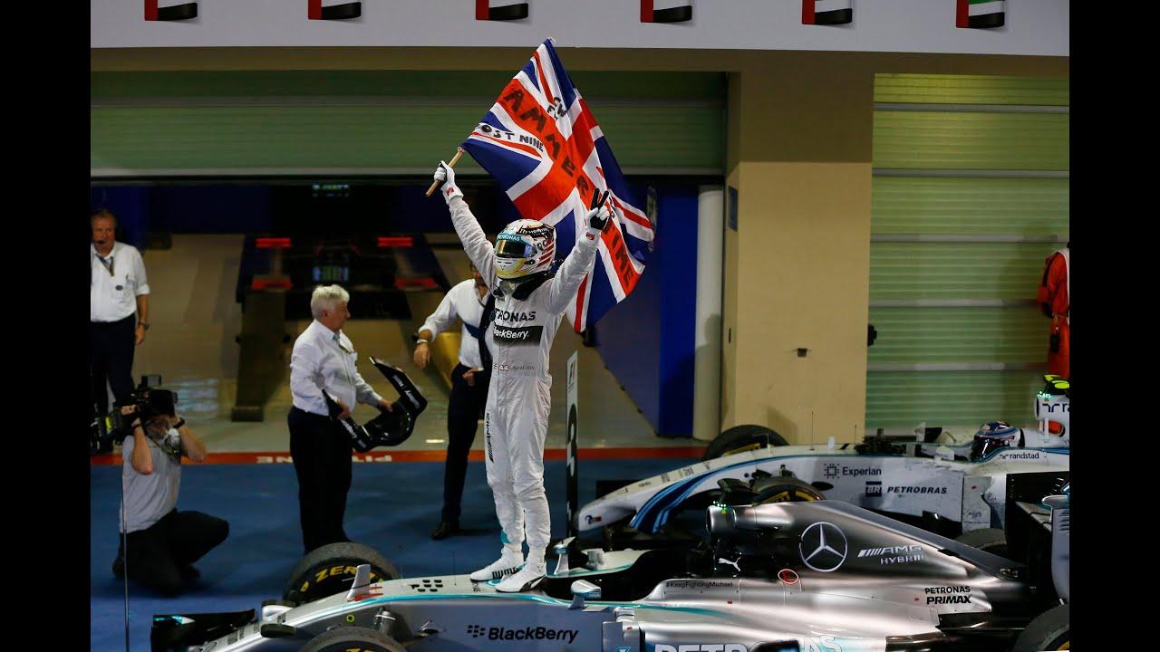 lewis hamilton, 2014 formula one world champion! - youtube