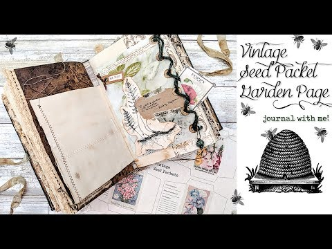 Vintage Seed Packet Garden Page - Journal with me!