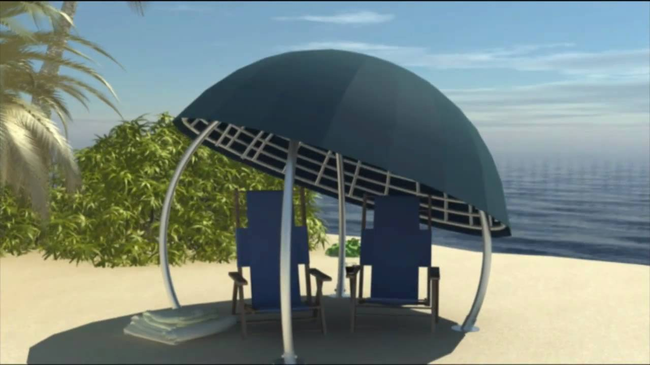 The Coconut   A Styish, Unique Shade Shelter With Domed Palm Thatched Or Canvas  Roof   YouTube