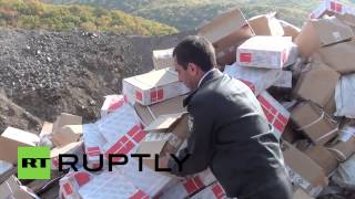Russia: Watch authorities burn 20 TONNES of illegal EU meat