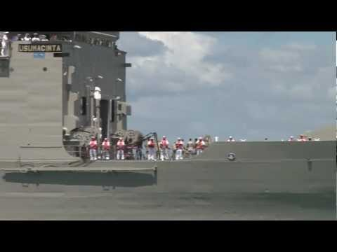 Mexican Navy Ship Usumacinta Crosses Pearl Harbor - RIMPAC 2012