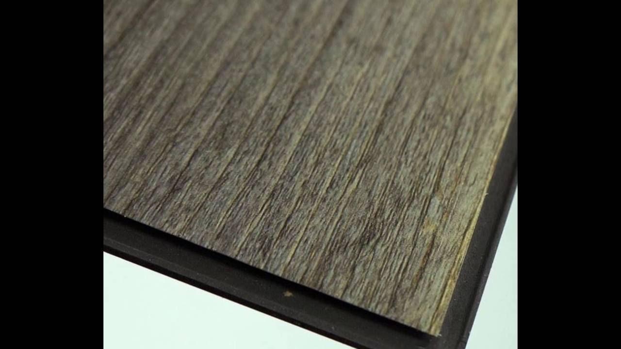 """6""""*36"""" dark gray wooden click vinyl plank flooring tile factory"""