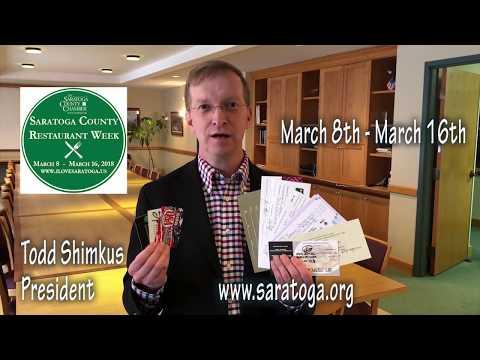 Saratoga County Restaurant Week Sweepstakes!