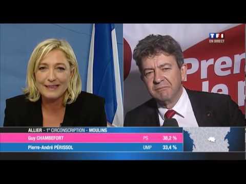 Marine Le Pen s'offre Mélenchon sur un plateau au 1er tour des législatives 11 juin 2012