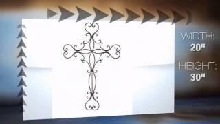 Heavenly Hearts Wall Cross Metal Hanging
