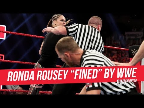 """WWE """"Fines"""" Ronda Rousey For """"Unprofessional Actions"""""""