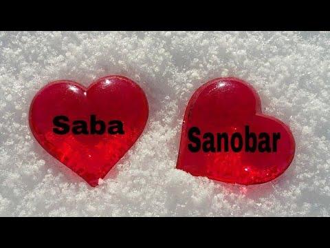 """""""Saba And Sanobar"""" Name Whatsapp Status Video    Tere Sang Yaara    Atif Aslam....."""