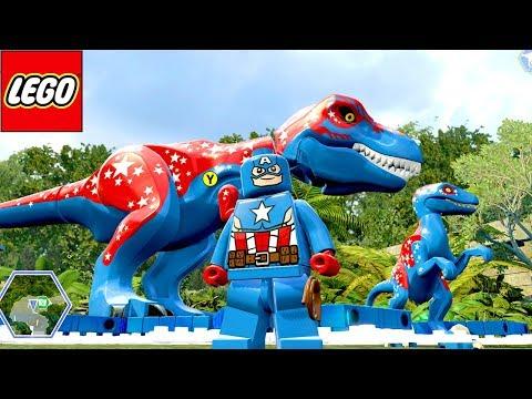 CAPITÃO AMÉRICA E SEUS DOIS DINOSSAUROS no LEGO Jurassic World EXTRAS MUNDO ABERTO #27