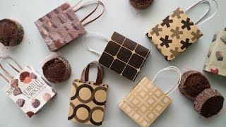 100均の折り紙で作るちいさな紙袋♪| Mini Paper Bag DIY