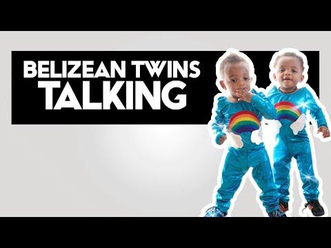 Belizean twins having a conversation