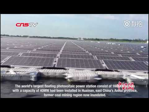 China builds world's largest floating solar power plant on flooded coal mining region