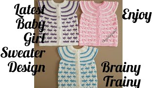 Baby girl sweater design ##baby girl woollen sweaters##top 28 new ideas of hand-knitted sweater