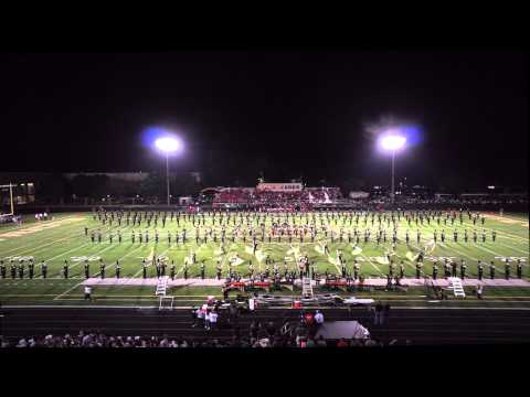 Marching Patriots 09-04-2015. Adlai E Stevenson High School Full Band Half-time Show