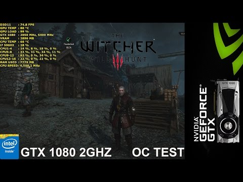 GTX 1080 FE 2GHZ Overclock Stability Test | The Witcher 3 Wild Hunt |i7 5960X 4.5GHz