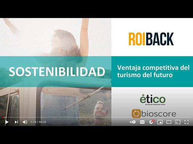 Webinar de Sostenibilidad: ventaja competitiva del turismo del futuro.