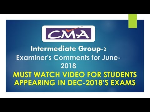 Must Watch | CMA-INTER Group-2| Examiner's Comment Summary |