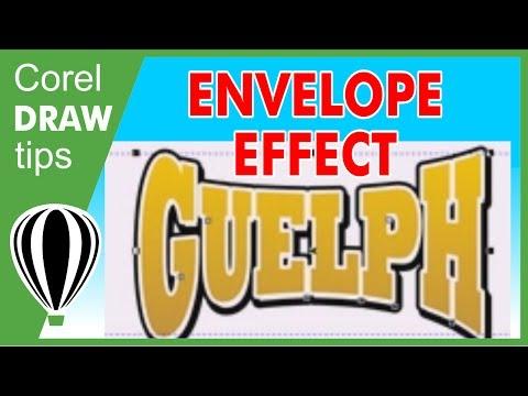 Using Envelope effect in CorelDraw