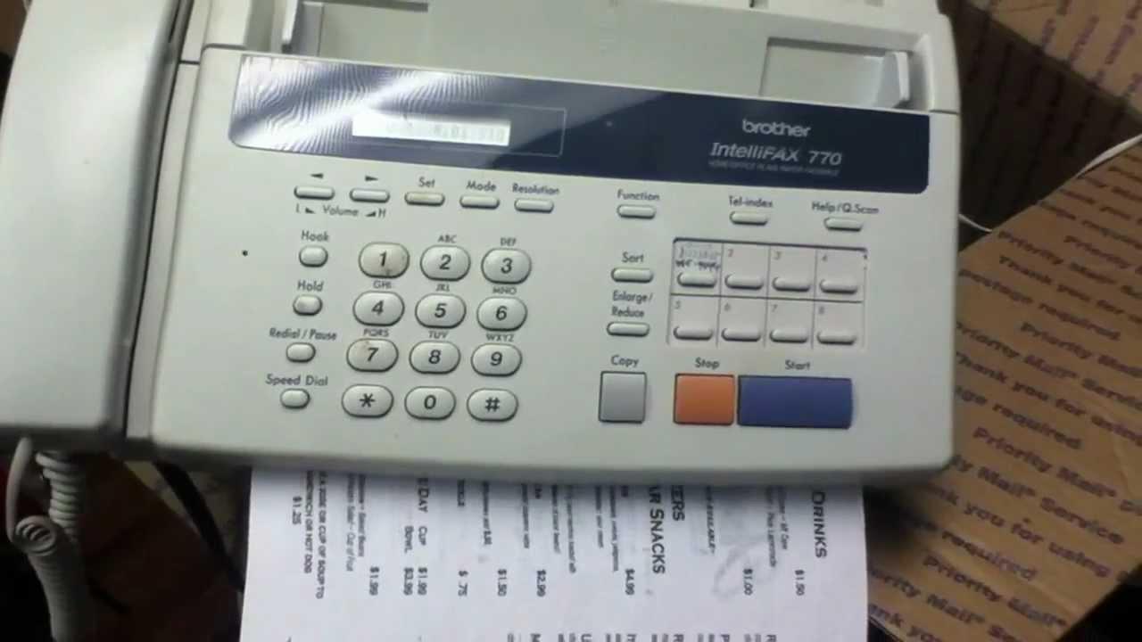 Fax Machine Old
